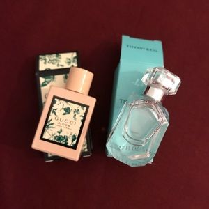 Gucci and Tiffany sample size perfumes
